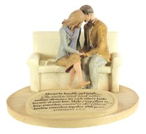 Devoted Sculpture: Praying Couple Always Be Humble and Gentle... (Eph 4:2-3)