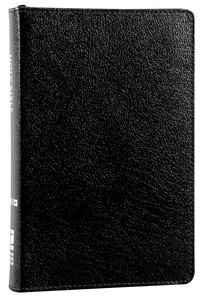 NIV Compact Thinline Bible Zippered Black (Red Letter Edition)