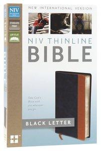 NIV Thinline Bible Blue/Tan