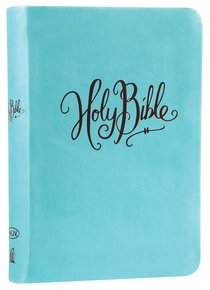 NKJV Compact Large Print Reference Bible Turquoise (Red Letter Edition) (Essentials)
