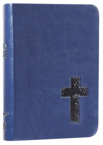 NKJV Compact Large Print Reference Bible Royal Blue (Red Letter Edition) (Essentials)