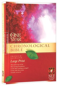 NLT One Year Chronological Large Print