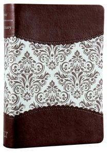 Nlts Womens Sanctuary Devotional Bible Espresso/Vintage Floral Fabric (Black Letter Edition)