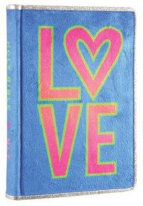 NLT Girls Slimline Bible Neon Fur Love (Red Letter Edition)