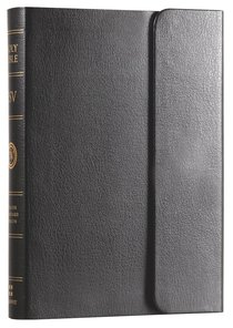 ESV Large Print Compact Bible With Snap Black