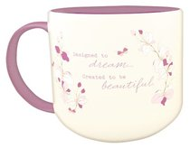 Jumbo Ceramic Mug: Everything Beautiful (Eph 3:11) (White/purple)