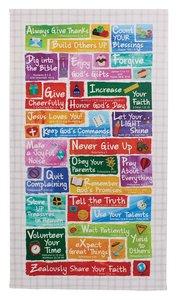 Wall Plaque: Colorful Abcs of Faith For Kids