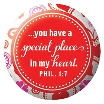 You Are Loved: Magnet Acrylic Button (Red Hearts)