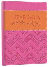 Italian Faux Leather Journal: Pink & Orange, Dear God Fill Me With Joy