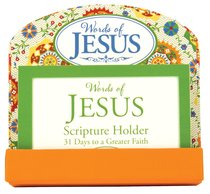 Scripture Card Holder:31 Scripture Cards, Words of Jesus