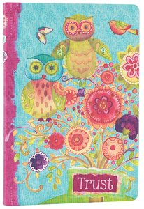 Silky-Soft Printed Journal: Trust Bright Flowers/Owls Luxleather