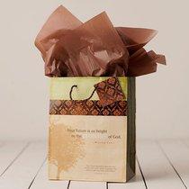 Gift Bag Medium: Faith & Honor (Incl Tissue Paper & Gift Tag)