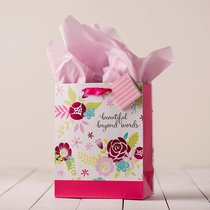 Gift Bag Medium: Beautiful Beyond Words (Incl Tissue Paper & Gift Tag)