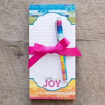 Daymaker Notepads With Pen: Live With Joy - Collage (2 Pack)