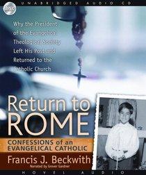 Return to Rome (Unabridged 4 Cds)