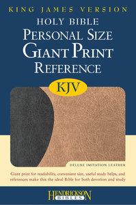 KJV Personal Size Giant Print Reference Bible Black/Tan Flexisoft