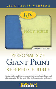 KJV Personal Size Giant Print Reference Bible Blue/Lime Green Flexisoft