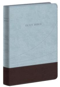 KJV Large Print Thinline Reference Bible Chocolate/Blue Flexisoft