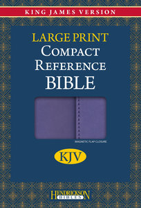 KJV Hendrickson Compact Reference Large Print Lilac With Magnetic Flap Closure