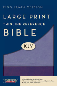 KJV Large Print Thinline Reference Bible Violet/Lilac