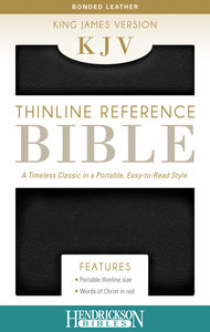 KJV Thinline Reference Bible Black