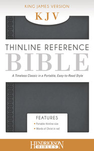 KJV Thinline Reference Bible Steel Gray