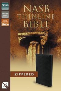 NASB Thinline Zippered Bible Black (Red Letter Edition)