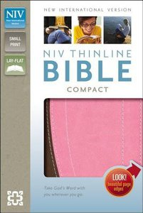 NIV Thinline Compact Bible Italian Duo-Tone Chocolate/Pink (Red Letter Edition)