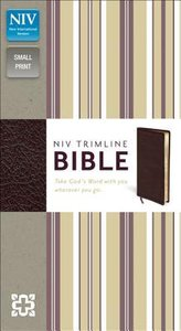 NIV Trimline Bible Burgundy (Red Letter Edition)
