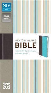 NIV Trimline Bible Turquoise Chocolate Duo-Tone (Red Letter Edition)