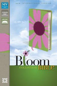 NIV Thinline Bloom Collection Pink Daisy Italian Duo-Tone (Red Letter Edition)