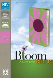 NIV Compact Thinline Bloom Bible Pink/Green Daisy Duo-Tone (Red Letter Edition)