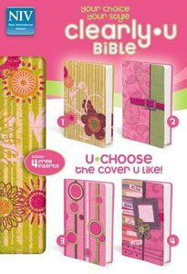 NIV Clearlyu Bible Pink Sparkle With 4 Colorful Cover Inserts (Red Letter Edition)