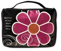 Bible Cover Mod Flower Sparkle Pink Medium