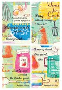 Notepad Set of 4: Food Series With Scripture
