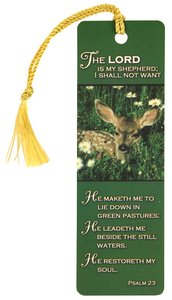 Tassel Bookmark: Lord is My Shepherd, the With Tassel (Ps 23)