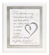 Plaque: Remember/Sympathy No More Tears (10cm X 12cm)