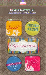 Magnetic Set of 5 Magnets: Inspiration For the Heart