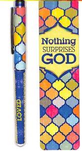 Pen & Bookmark Gift Set: Nothing Surprises God