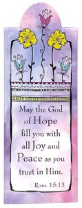 Magnetic Bookmark: May the God of Hope Fill You With Joy...