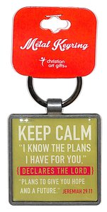 Metal Keyring: Keep Calm, Lime Green