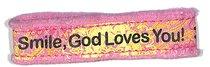 Canvas Bracelet: Smile God Loves You