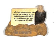 Scripture Card Holder: Eagle, His Strength (Isaiah 40:31)