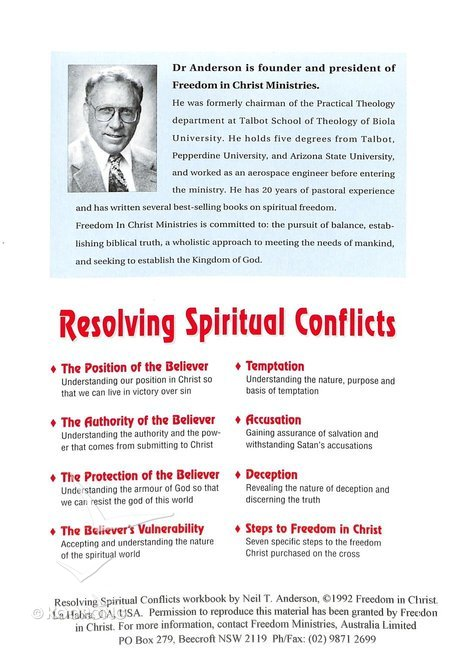 Resolving Spiritual Conflicts (Dvd With Study Guide)