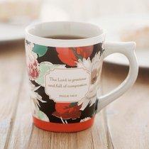 Classic Mug: Floral Compassion, Psalm 145:8