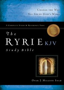 KJV Ryrie Study Bible Burgundy Bonded (Red Letter Edition)