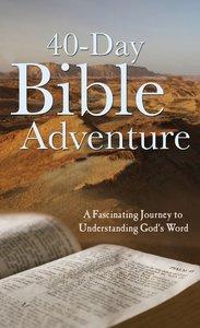 Value Books: 40-Day Bible Adventure