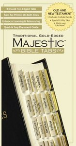 Majestic Bible Tabs Traditional Gold-Edged (Includes Catholic Tabs)