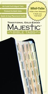 Majestic Bible Tabs Mini Traditional Gold