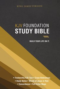 KJV Foundation Study Bible (Red Letter Edition)